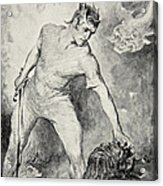 Beowulf Shears Off The Head Of Grendel Acrylic Print by John Henry Frederick Bacon