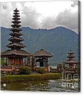 Beratan Island Temple Acrylic Print