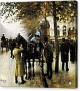 Beraud, Jean 1849-1935. The Boulevards Acrylic Print by Everett