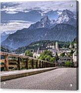 Berchtesgaden Road And Mountain Acrylic Print