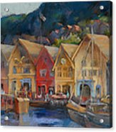 Bergen Bryggen In The Early Morning Acrylic Print