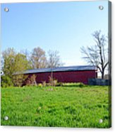 Berks County - Griesemer's Covered Bridge Acrylic Print