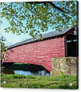 Berks Courty Pa - Griesemer's Covered Bridge Acrylic Print