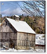 Berkshire Barn In Winter Acrylic Print