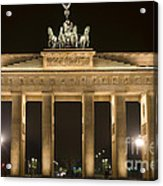 Berlin Brandenburg Gate Acrylic Print by Frank Tschakert