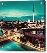 Berlin Germany Major Landmarks At Night Acrylic Print