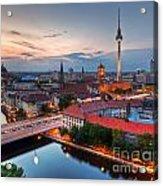 Berlin Germany Major Landmarks At Sunset Acrylic Print