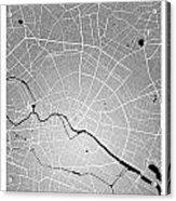 Berlin Street Map - Berlin Germany Road Map Art On Colored Backg Acrylic Print