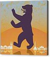 Berlin Vintage Poster Acrylic Print