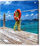 Bermuda Lifebelt Bite Acrylic Print
