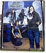 Bernadette Devlin Mural Acrylic Print