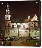 Bernandine Church At Night In Krakow Acrylic Print