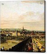Bernardo Bellotto Wien Vom Belvedere Aus Gesehen 1758 1761 Acrylic Print