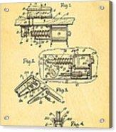 Berninger Reprojecting Ball Bumper Patent Art 1967 Acrylic Print