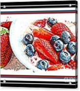Berries And Yogurt Illustration - Food - Kitchen Acrylic Print