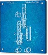 Berteling Flute Patent Art 1868 Blueprint Acrylic Print