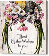 Best Easter Wishes To You 1909 Vintage Postcard Acrylic Print