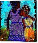 Best Friends Mosaic Acrylic Print