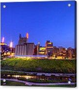 Best Minneapolis Skyline At Night Blue Hour Acrylic Print
