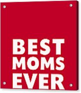 Best Moms Card- Red- Two Moms Mother's Day Card Acrylic Print