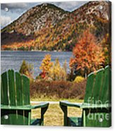 Best Seats In Acadia Acrylic Print by George Oze