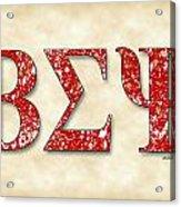 Beta Sigma Psi - Parchment Acrylic Print
