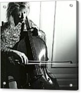 Beth And Oiled Cello Acrylic Print