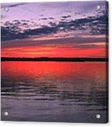 Bethany Beach Sunset Acrylic Print