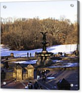 Bethesda Fountain 2013 - Central Park - Nyc Acrylic Print by Madeline Ellis