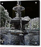 Bethesda Fountain Abstract Acrylic Print