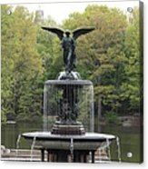 Bethesda Fountain Central Park Nyc Acrylic Print