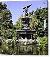 Bethesda Fountain Iv - Central Park Acrylic Print