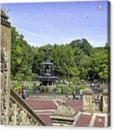 Bethesda Fountain V - Central Park Acrylic Print