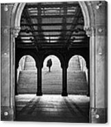 Bethesda Underpass At Central Park In New York City Acrylic Print by Ilker Goksen