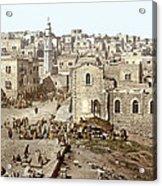 Bethlehem Manger Square 1900 Acrylic Print