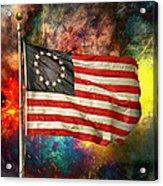 Betsy Ross Flag Acrylic Print by Steven Michael