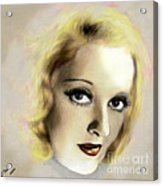 Bette Davis Eyes Acrylic Print by Arne Hansen