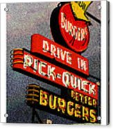 Better  Burgers Acrylic Print by Gail Lawnicki