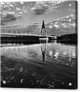 Between Sky River And Two Coasts Acrylic Print
