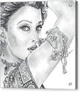 Beutiful Indian Actress Acrylic Print
