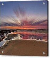 Bexhill Sunburst Acrylic Print by Mark Leader