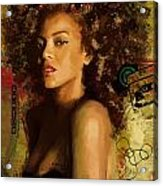 Beyonce Acrylic Print by Corporate Art Task Force