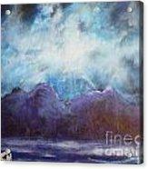 Beyond The Purple Hills Acrylic Print