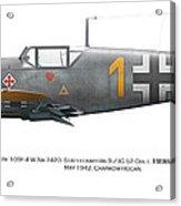 Bf 109f-4 W.nr.7420. Staffelkapitan 9./jg 52 Oblt. Hermann Graf. May 1942. Charkow-rogan. Acrylic Print