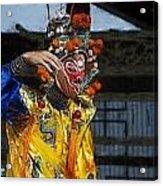 Bian Jiang Dancer Color Drawing Hp Acrylic Print