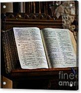 Bible Open On A Lectern Acrylic Print