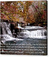 Bible Verse And Inspirational Greeting Card Autumn Fine Art Photography Prints And Posters. Acrylic Print