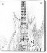 Bich Electric Guitar Sketch Acrylic Print