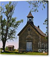 Bichet School In Marion County In Kansas Acrylic Print