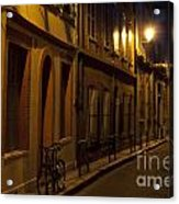 Bicycle And Empty Street Acrylic Print
